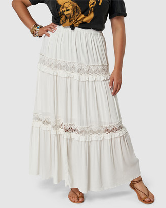 The Poetic Gypsy - Women's White Maxi skirts - Bondi Lace Maxi Skirt - Size One Size, 14 at The Iconic