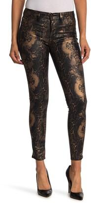 Fidelity Sola Metallic Snakeskin Printed Jeans