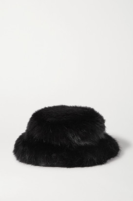 EMMA BREWIN Faux Fur Bucket Hat - Brown
