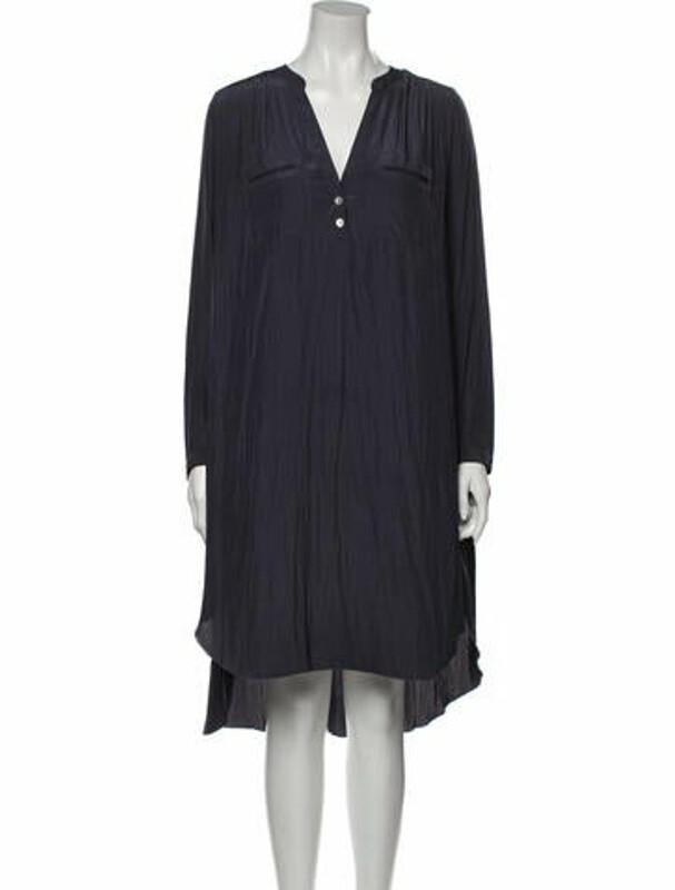 Thumbnail for your product : Ulla Johnson V-Neck Midi Length Dress Blue