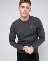 Jack Wills Barmby Slub Sweatshirt Small Logo