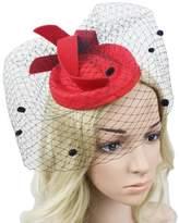 CaliaDress Women Pillbox Hat Cocktail Tea Party Wedding Fascinator Veil C006TS