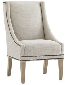 Lexington Monterey Sands Upholstered Dining Chair Upholstery Color: Brown, Leg Color: Beige, Nailhead Color: Brown