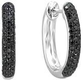 Effy Jewelry Prism Black Diamond 14K White Gold Earrings, .72 TCW