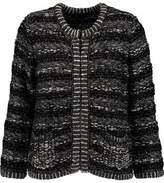 Maje Metallic Bouclé-Knit Cardigan