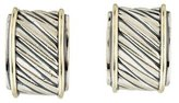 David Yurman Two-Tone Hoop Earrings