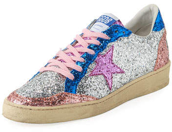 Golden Goose Ball Star Low-Top Glitter Sneakers