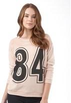Jacqueline De Yong Womens Candy Long Sleeve Sweatshirt Cameo Rose