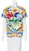 Dolce & Gabbana Maiolica Print Short Sleeve Top