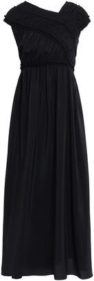 Jil Sander Shirred Silk Midi Dress