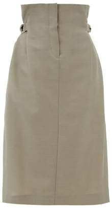 Acne Studios Ippy Paper-bag Wool-twill Skirt - Womens - Beige