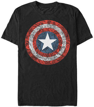 Fifth Sun Shield Mens Crew Neck Short Sleeve Captain America Graphic T-Shirt