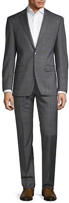 Calvin Klein Slim-Fit Windowpane Check Suit