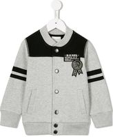 Diesel mohican badge cardigan - kids - Cotton/Polyester - 4 yrs