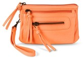 Mossimo Women's Faux Leather Solid Clutch with Removable Wristlet Strap - Peach Supply Co.TM