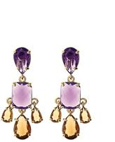 Brooks Brothers Amethyst & Topaz Earrings