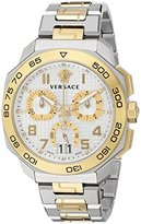 Versace Men's VQC030015 DYLOS CHRONO Analog Display Swiss Quartz Two Tone Watch