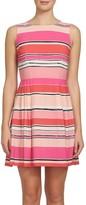 CeCe Women's Claiborne Stripe A-Line Dress