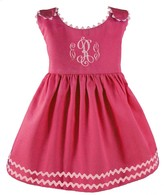 The Well Appointed House Girl's Pique Pink Dress-Can Be Personalized