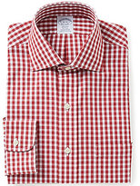 Brooks Brothers Regent-Fit Non-Iron Gingham Spread-Collar Dress Shirt