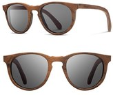 Shwood Women's 'Belmont' 48Mm Wood Sunglasses - Walnut/ Grey