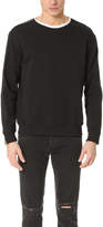 3.1 Phillip Lim Roll Edge Crew Neck Sweatshirt with Zipper