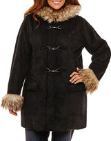 KC Collections Midweight Hooded Peacoat-Plus