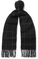 Polo Ralph Lauren - Fringed Checked Wool-blend Scarf