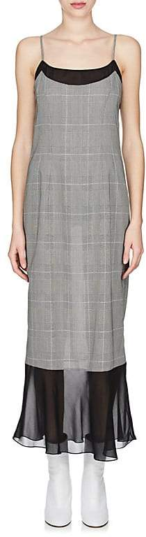 Maison Margiela Women's Crepe-Detailed Wool-Blend Cami Midi-Dress
