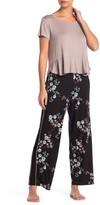 Hale Bob Short Sleeve Top & Pants Classic Pajama Set