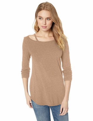 Three Dots Women's VJ2693 eco Knit l/s tee