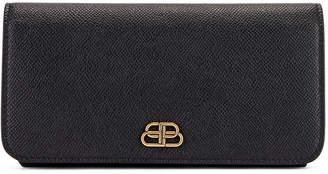 Balenciaga BB Thin Money Wallet in Black | FWRD