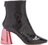 Ellery crocodile effect ankle boots
