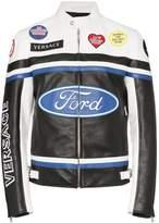 Versace X Ford race logo biker jacket