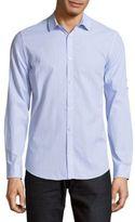 Calvin Klein Seersucker Cotton Button-Down Shirt