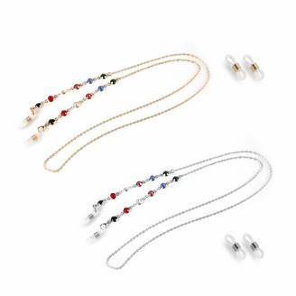 Eli Time Eli-time Colorful Glass String Eyewear Chain fit Sunglasses/Eyeglasses/Reading Glasses Strap and Glasses Holder Strap for Women