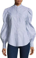 Max Studio Long-Sleeve Striped Shirt
