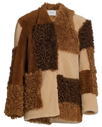 Frame Mixed Shearling Patchwork Jacket