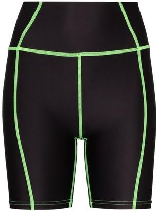 Danielle Guizio Two-Tone Cycling Shorts