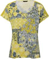 M&Co Floral print crochet trim top