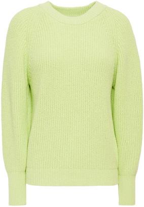 Claudie Pierlot Ribbed Cotton-blend Sweater