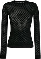Dolce & Gabbana diamond knitted jumper