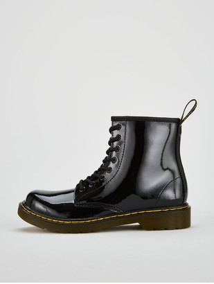 Dr. Martens Girls 1460 Patent Boots - Black