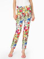Talbots Garden Flowers Tailored Ankle Pant