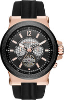 Michael Kors MK9019 Dylan rose gold-plated stainless steel and rubber watch