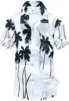 Paixpays Hawaiian Men Short Sleeve Shirt Surf Beach Board Shirt Summer Printed