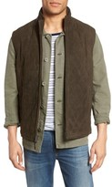 GoldenBear Men's Golden Bear Diamond Quilted Suede Vest