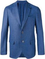 Lardini notched lapel blazer - men - Silk/Linen/Flax/Cupro/Mohair - 52