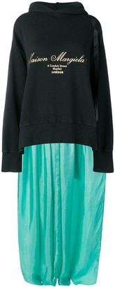 MM6 MAISON MARGIELA Sweatshirt-Panelled Dress