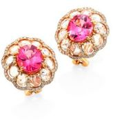 Ivy Rose-Cut Diamond & Pink Spinel Stud Earrings